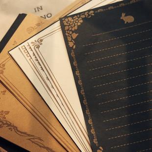 复古怀旧经典欧式花纹图案 超质感八种图案一套信纸