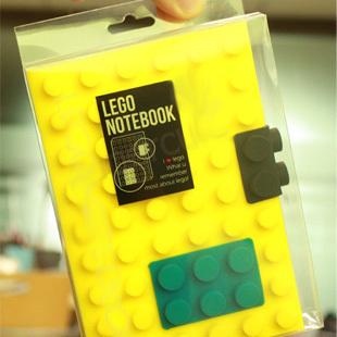 彩色LEGO樂高積木筆記本book 扣扣DIY 便簽本 積木寫字本 記事本