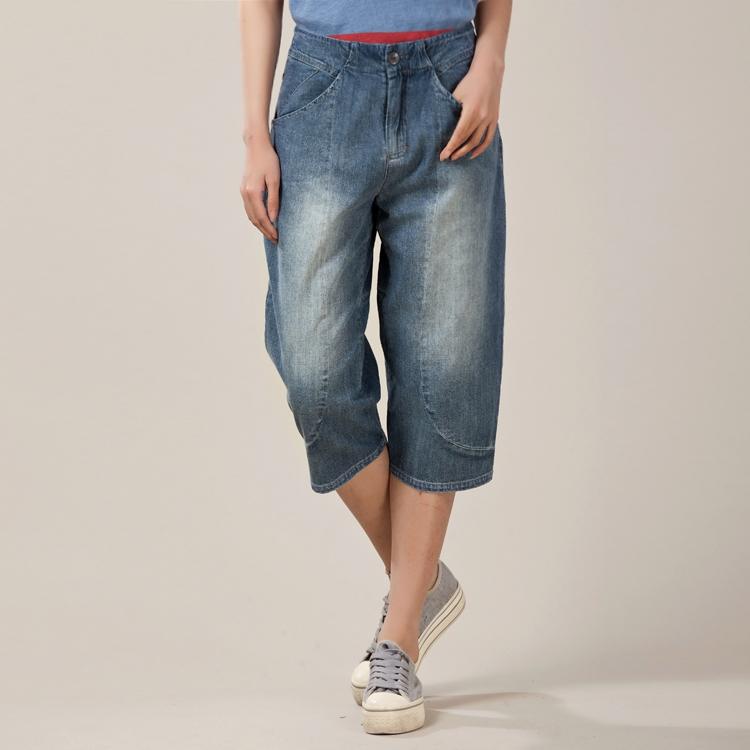 夏装新款斯琴布衣风格女七分直筒薄款牛仔裤休闲裤正品K009