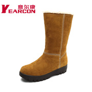 Kang authentic shoes and thick in the slip at the end of winter with warm stylish nubuck leather boots women boots