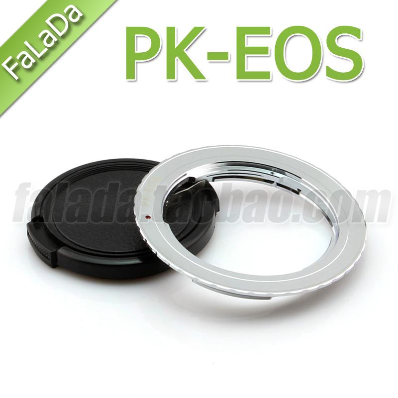宾得PENTAX PK镜头转佳能EF机身 PK-EOS 转接环 银色款