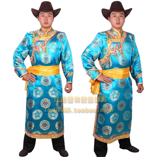 Men's clothes Mongolian ethnic Mongolian gowns stage costumes dance clothes adult Mongolian gowns wedding dress