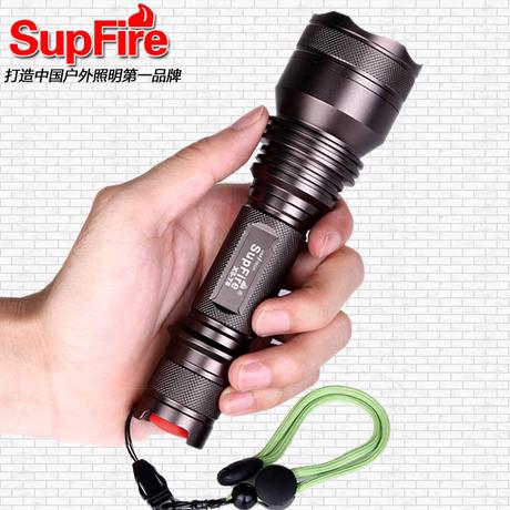 正品神火SupFire X5 ��光手�筒 超亮防水�T行充� 10W T6 led��