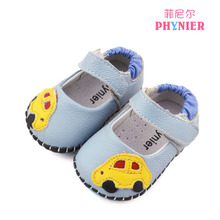Special offer Mr Neil rare male square opening baby shoes Baby learning to walk single shoes Prevent slippery leather shoes small leather shoes