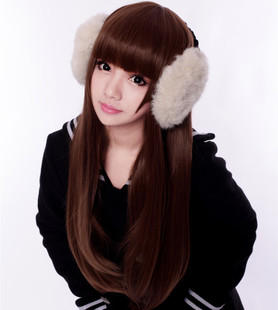 Female realistic long straight hair wig fluffy hair repair face Qi Liu fake wig female student entire top wig hair