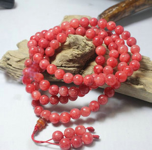 Love 108 Queens Argentina Rhodochrosite beads bracelet Wang love trick Peach