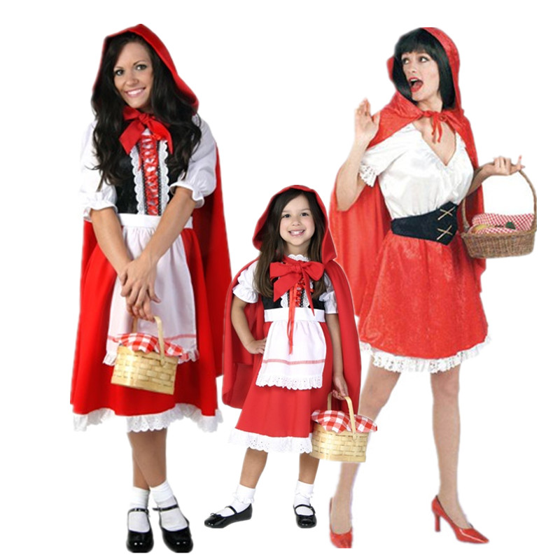 Ци Каунти COS маскарадных костюма одеваются костюм костюм производительности в день маленький костюм красной шапочки