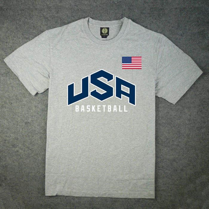 USA美国梦之队梦十男短袖T恤保罗科比詹姆斯韦德杜兰特运动T恤
