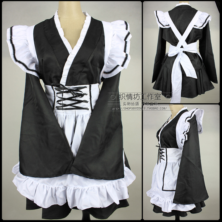 The New Japanese Style Black And White Wind Lolita Maid