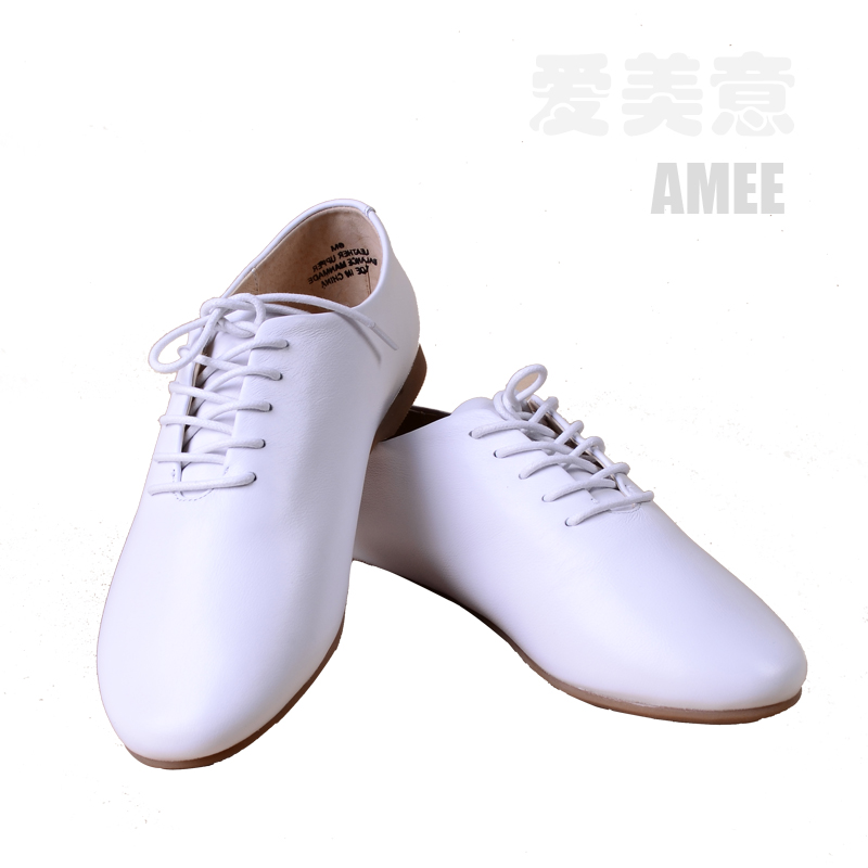 Korean retro British style small white cattle shoes flat heel single shoes Korean womens shoes round toe flat shoes Oxford Shoes