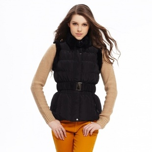 Metersbonwe genuine fur collar TAGLINE female waist down vest stock 238 712