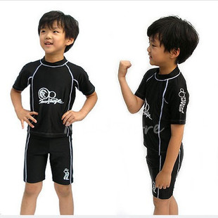 Original single hot spring swimsuit boy boy child swimsuit sunscreen split swimwear swimming trunks black drawstring