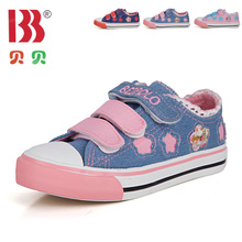 Nursery school girls aged 4-13 children's primary school girl sports shoes cuhk low canvas shoes for 32-33-34 yards