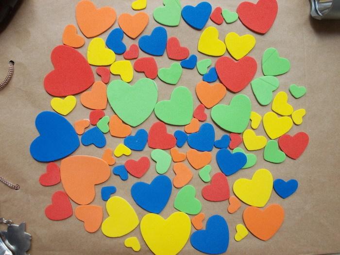 幼儿园场景布置环境装饰爱心墙贴热销8件限时抢购