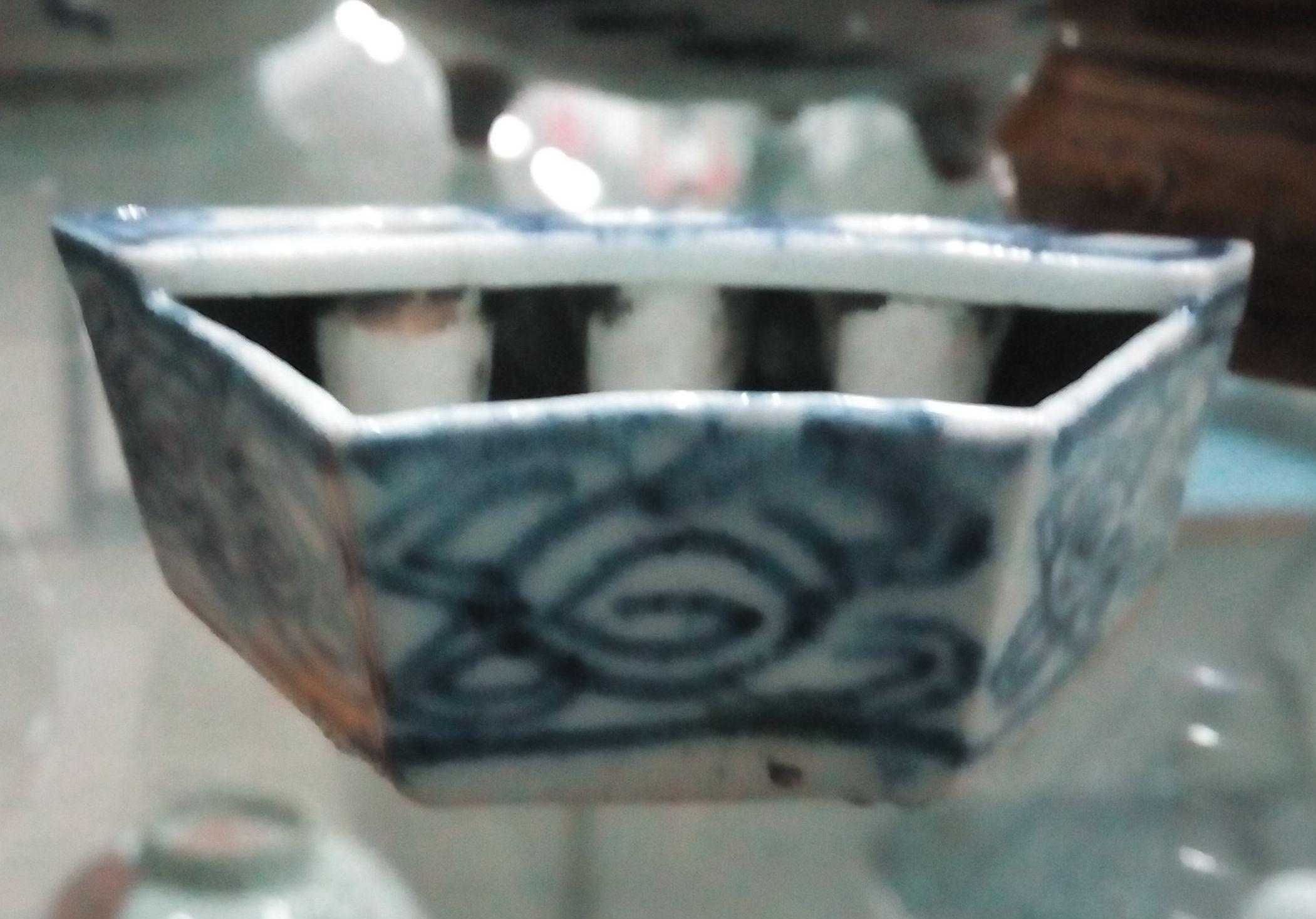 Подлинные антикварные китайские антикварные фарфоровые синие и белые