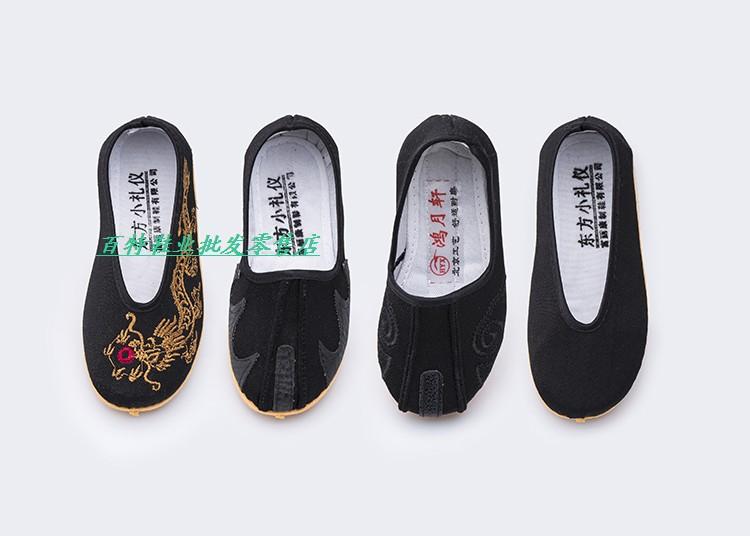 包邮春季款儿童鞋圆口牛筋底宝宝鞋男童老北京布鞋单洒鞋龙鞋靸鞋