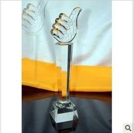 水晶奖杯 学生大拇指 金牌 最佳老公老婆妈妈爸爸礼物父亲节礼品图片