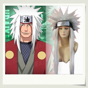 COSPLAY wig COS new spot Naruto NARUTO anime wig Jiraiya Konoha village three forbearance