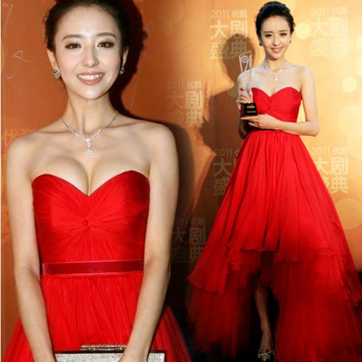 Liya Тонг долго после короткого поджаривания костюм вечернее платье свадебное платье до нового 2015 года председательствовал на stomacher платье невесты платье