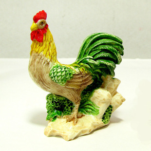 Opening feng shui ornaments ceramic chicken Rooster zodiac 12 zodiac Rooster Crafts furnishings