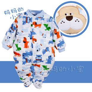 Original single universal mad fleece spring and autumn baby leotard Romper climbing clothes baby long sleeved leotard