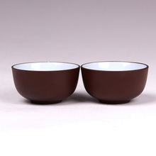Yixing purple sand cup to kung fu tea tea cup cup with white glaze inside tea products Sample tea cup size cup