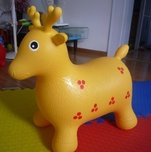 Inflatable animals jumping horse inflatable toys cartoon animal toys jumping deer inflatable children s toys
