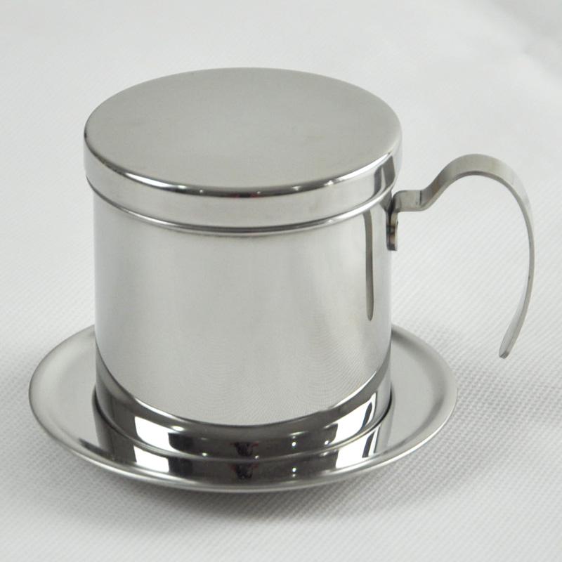 包邮 不锈钢咖啡壶 越南冲泡壶 咖啡滴滤壶滴滴壶 手冲咖啡杯滤杯