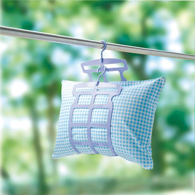 日本進口高品質曬枕架 創意柔軟枕頭晾曬架 塑料可調節晾衣架娃