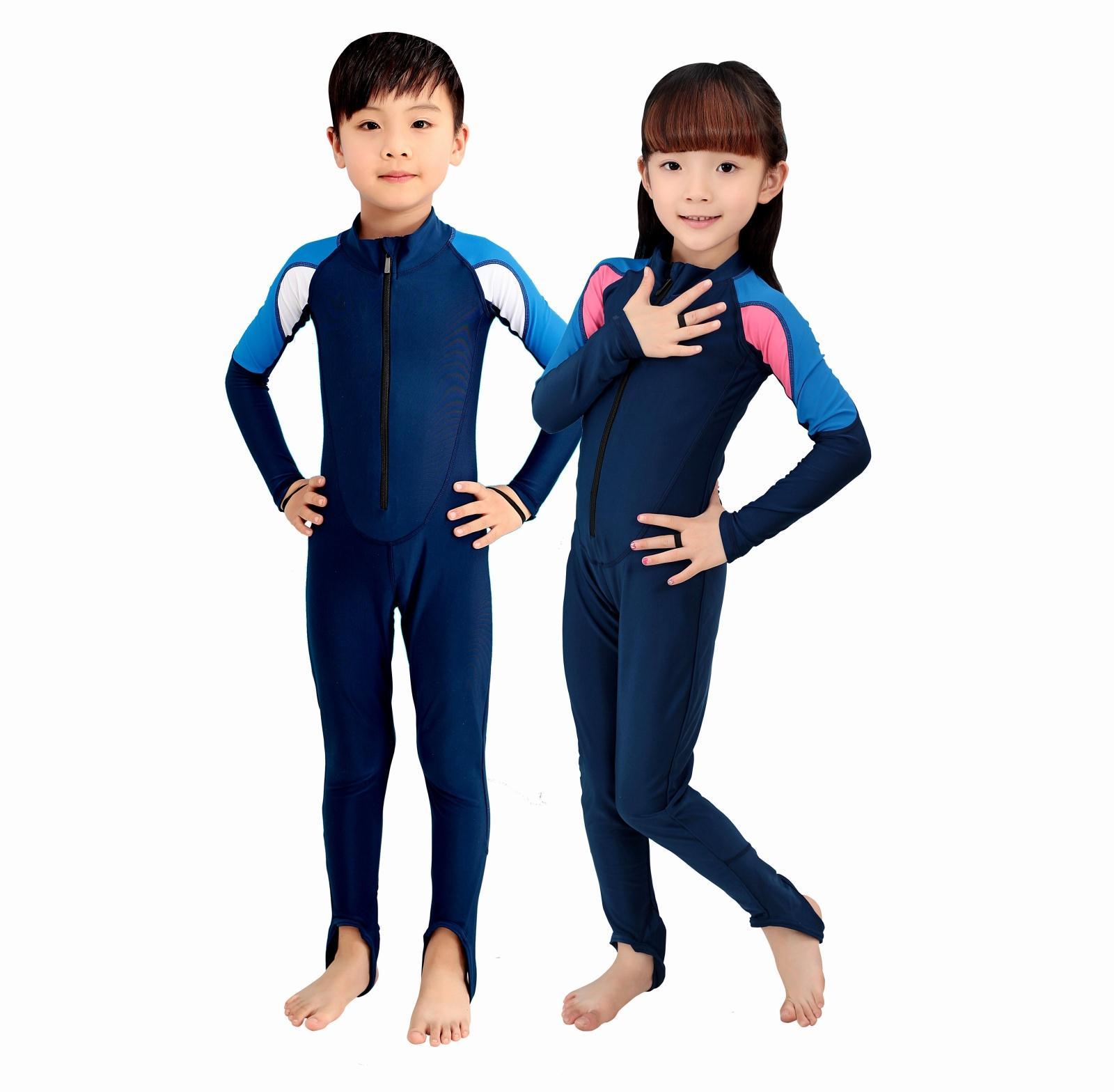 Ребенка гидрокостюм мужчин и женщин ВС платье Длина рукава солнца костюм детей кусок медузы костюмы snorkel костюм кусок