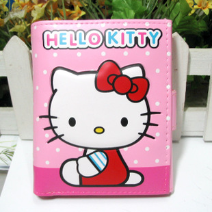Foreign money hello kitty triple short paragraph cute cartoon student card cartoon female coins