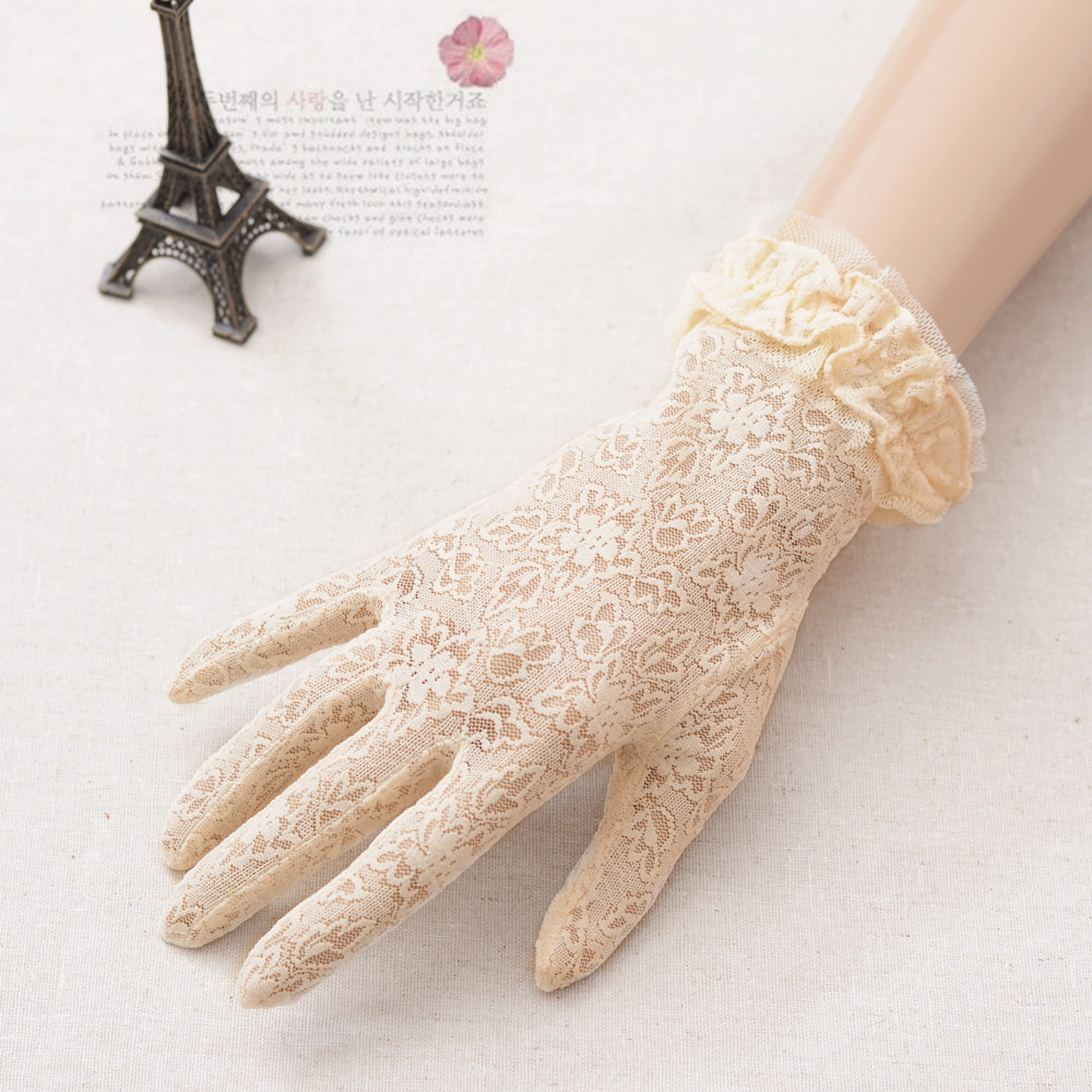 Spring and summer new sun protection and sunshade gloves all Lace Bridal Wedding Gloves short package