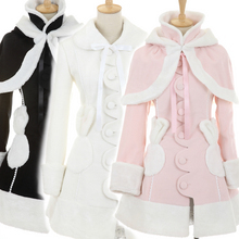 Japanese princess lolita cute winter coat cashmere coat send shawl Snowshoe