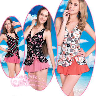 Ying Xi dream swimsuit hot springs piece dress style conservatism Ms thin cover belly Korean design swimwear 8876
