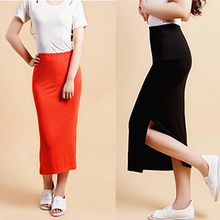 2014 autumn/winter in Europe and the tide female modal cotton bust skirt show thin pencil skirt side split package buttocks dress