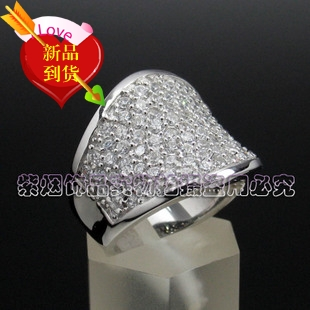 SILVER RING 925 Sterling Silver Diamond Silver Ring Ring Ring zircon womens silver micro set ring