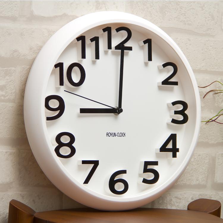 Siton мода творческий немой настенные часы современный простой колокол личность цифровой часы искусство гостиная кварц колокол