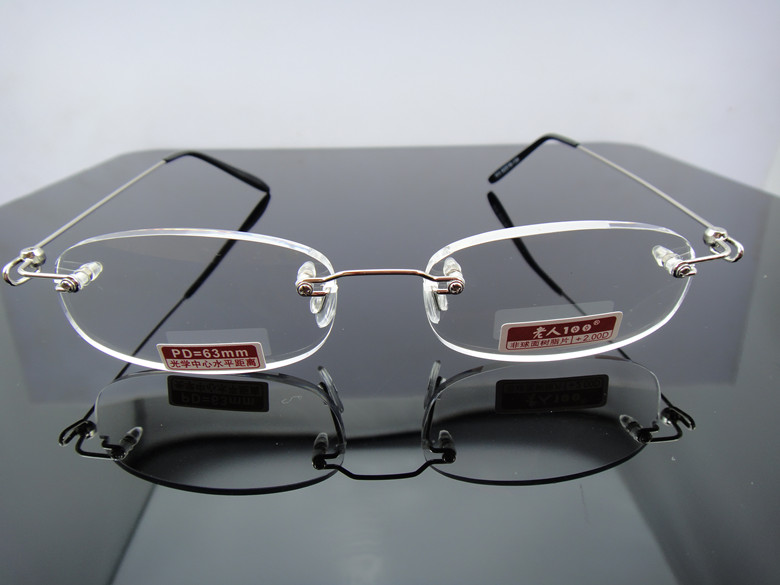 Genuine products with anti-counterfeiting 100 presbyopic glasses 815 frameless high-definition anti fatigue men and women