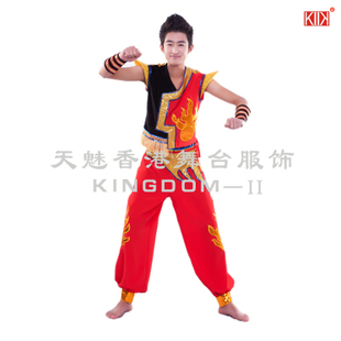 New Listing ethnic costumes drum Yangko dance clothing performance clothing Yangko clothing costume M