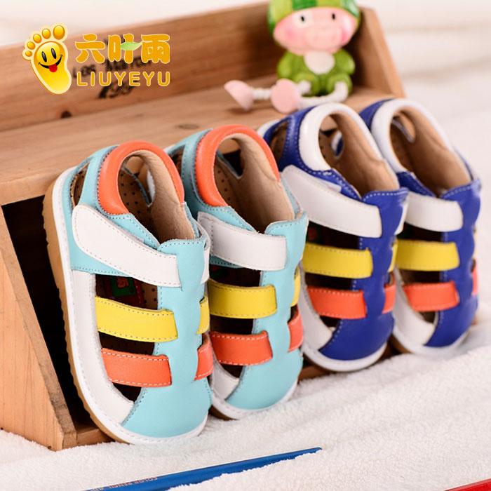 Шесть лист дождь летом кожа скольжения мягкой обуви для мужчин и женщин в конце Баотоу, ребенка малыша Детская обувь