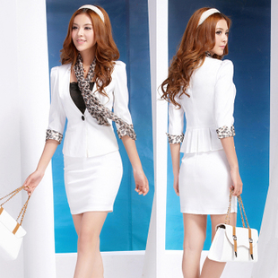 2015 autumn women s wear sleeve skirt Korean OL Slim ladies dress suit overalls Beauty Salons