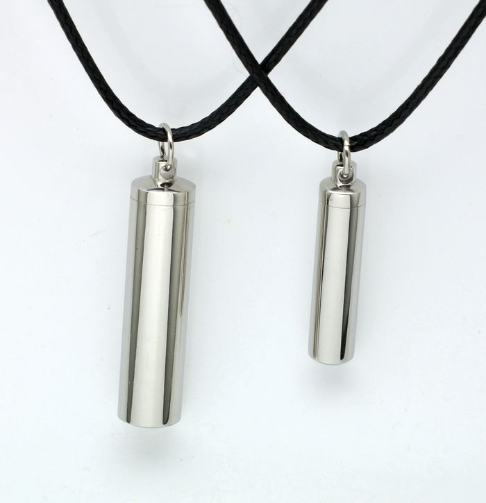 Steel color perfume bottle Pendant titanium steel necklace / non fading / non fading 316L Stainless Steel Pendant Necklace [1222]