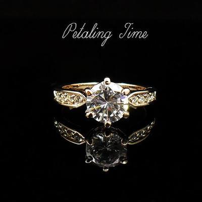 超闪奢华卡地同款八心八箭六爪2两克拉女戒指钻假戒指环结婚婚礼