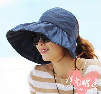 Покупать в южной корее сложить крышка лето приморский солнцезащитный крем затенение большие навесы пусто сверху защита от ультрафиолетовых лучей солнце шляпа женщина волна