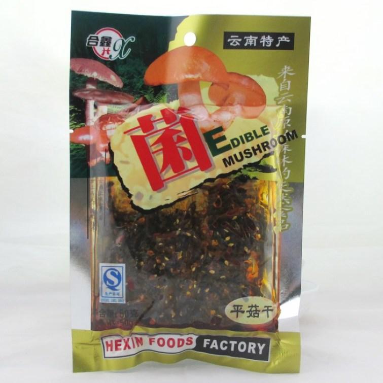 合鑫平菇干50克 麻辣味休闲零食品 菌类小吃 云南昆明特产 零嘴儿