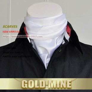 Zhao Xing Korean men scarf / pure color scarf / scarf collar business shirt plain white SJ1342