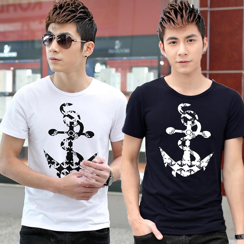 Корейская версия JVR 2015 короткий рукав футболки мужчин тонкий мужчин короткие рукава рубашки t мужчин короткие футболку бума летние и осенние мужчин