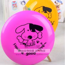 Pet bites a frisbee The special training toy dog golden retriever border samoyed husky teddy plastic toys