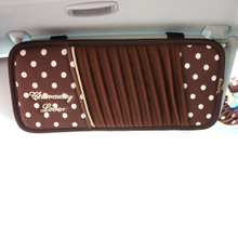 OTT lai fu gold chocolate automotive sunvisors chariot with CD holder car CD disc receive bag
