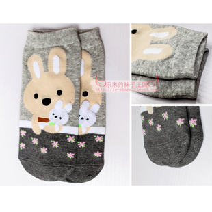 Le millet new special boutique thin section socks spring and summer women s Korean cute candy colored animals series